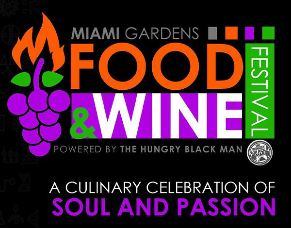 Flyer for The Miami Gardens Food and Wine Festival