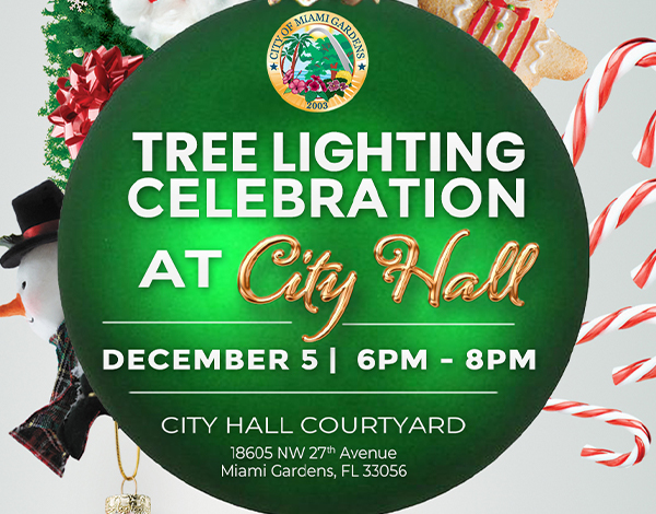 Flyer for Tree Lighting Ceremony
