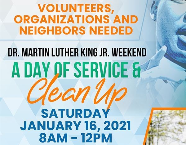 Flyer for MLK Day of Service