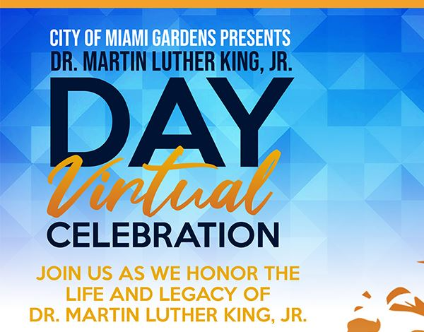 Flyer for MLK Day Virtual Celebration