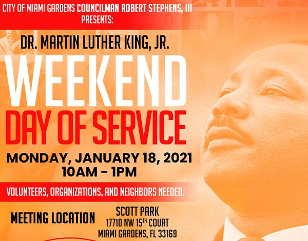 Flyer for Dr. MLK Weekend Day of Service