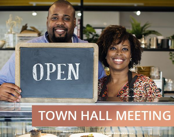 Flyer for Small Business Townhall Meeting