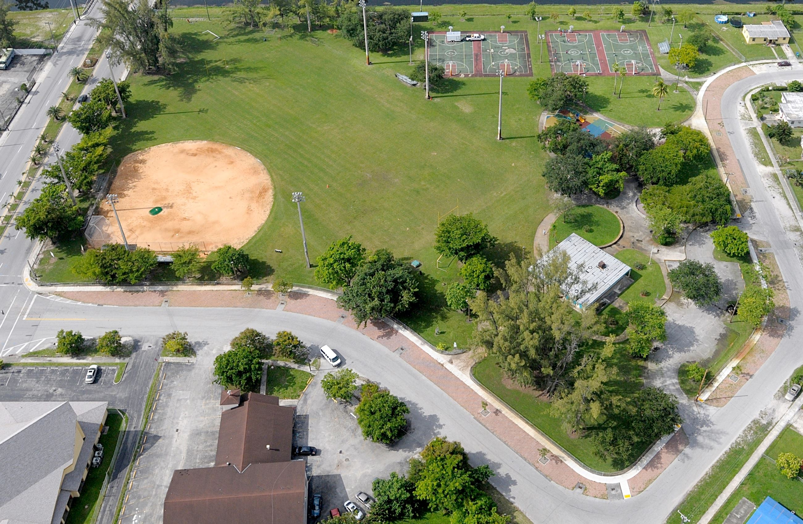 Bunche Park Aerial View